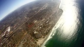 Sky Dive Moonlight Beach Encinitas Ca - part 2 stock footage