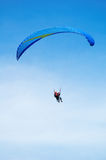 Sky diver tandem. Flight with instructor Royalty Free Stock Images