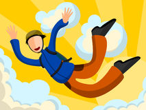 Sky diving Royalty Free Stock Images