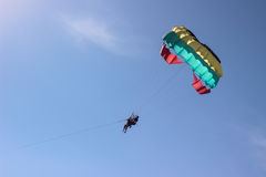 Sky diving in blue sky Stock Photography