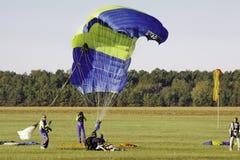 Sky Diving - Safe Tandem Landing Stock Photography
