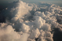 Sky diving in Storm. Stormy Clouds over Spain on an aborted Sky Dive Stock Photo