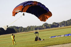 Sky Diving - Tandem Landing! Stock Images