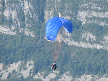 Sky Diving. Touching the Sky in the French Alpins Royalty Free Stock Photo
