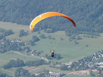 Sky Diving. Touching the Sky in the French Alpins Royalty Free Stock Photos