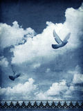 Sky and doves royalty free stock images