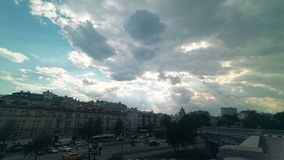 Sky with dramatic clouds Moscow stock footage