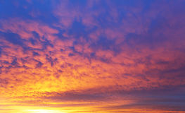 Sky with dramatic cloudy sunrise Royalty Free Stock Photography