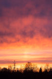 Sky dramatic sunset and power line electricity. Sky sunset and power line electricity Stock Photo
