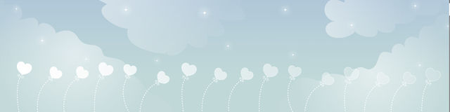 Sky Dream Banner Royalty Free Stock Image