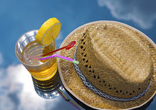 Sky drink hat stock image