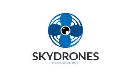 Sky Drone Logo Stock Photo