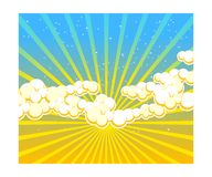 Sky Dusk. Retro style of skies and sunshine royalty free illustration