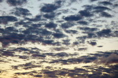 Sky at dusk. Background of sky at dusk royalty free stock photos