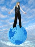 Sky, Earth and woman stock photos