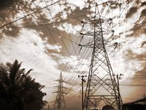 Sky, Electricity, Cloud, Overhead Power Line royalty free stock images