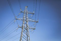 Sky, Electricity, Overhead Power Line, Electrical Supply stock image