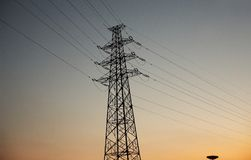 Sky, Electricity, Overhead Power Line, Transmission Tower Royalty Free Stock Photography