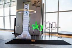 Sky100 embleem Stock Afbeelding