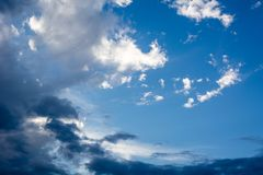 Sky and embossed clouds. As a background royalty free stock photos