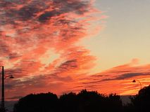 Sky. Evening sky in the autumn Stock Photography