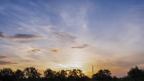 Sky in the evening for backgurnd Royalty Free Stock Photography