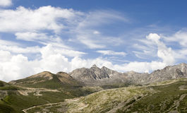 sky för 7 berg under Royaltyfri Bild