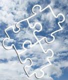 sky för bakgrundsfotopussel royaltyfria foton
