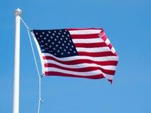 sky för natt för bakgrundsfyrverkeriflagga starry USA Amerikanskt symbol av fjärdedelen av den Juli självständighetsdagen, demokr Royaltyfria Foton