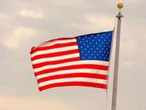 sky för natt för bakgrundsfyrverkeriflagga starry USA Amerikanskt symbol av fjärdedelen av den Juli självständighetsdagen, demokr Arkivfoto
