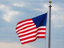 sky för natt för bakgrundsfyrverkeriflagga starry USA Amerikanskt symbol av fjärdedelen av den Juli självständighetsdagen, demokr Fotografering för Bildbyråer