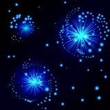 sky för natt för abstraktionillustrationblixt Royaltyfria Bilder