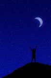 sky för natt för abstraktionillustrationblixt Royaltyfri Bild