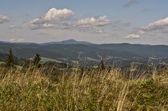 sky för panorama för filterberg orange Arkivfoto