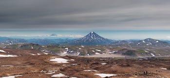 sky för panorama för filterberg orange arkivbilder
