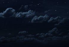Sky för Starry natt Arkivbild