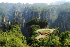 Sky farmland in zhangjiajie royalty free stock image