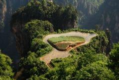 Sky farmland in Zhangjiajie stock image