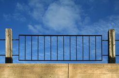 Sky Fence. Gotta hold back that blue sky. Let's build a fence Royalty Free Stock Photos