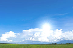 Sky and fields Royalty Free Stock Images