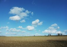 Sky and fields Royalty Free Stock Photo