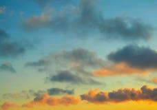 Sky. Fiery orange sunset sky. Beautiful sky Stock Image