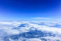 The sky. Is filled with clouds and fog Royalty Free Stock Images
