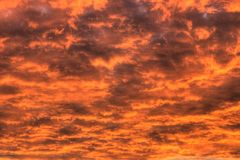 The sky is on fire. HDR image, three RAW shots merged +-2EV Stock Images