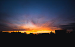 The Sky Is On Fire royalty free stock photos