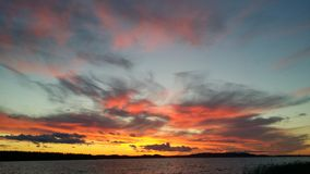 Sky in fire Stock Image