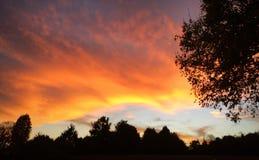 Sky on fire. Sunset in North Carolina Stock Photos