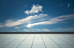 Sky and floor, background Stock Photos