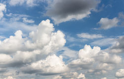 Sky. Fluffy cloud and wind in blue sky Stock Photo