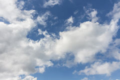 Sky. Fluffy clouds floating on blue sky Royalty Free Stock Photo